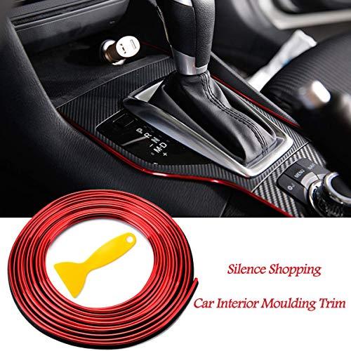 Silence Shopping 5M 3D bricolage automobile moteur de voiture intérieur décoration extérieure moulage Trim ligne de bande Autocollant (Red)