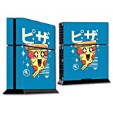 MightySkins Skin Compatible with Sony PS4 Console - Pizza Kawaii | Protective, Durable, and Unique Vinyl Decal wrap Cover | Easy to Apply, Remove, and Change Styles | Made in The USA