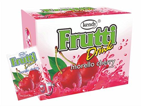 Frutti Instant Getränkepulver ohne Zucker - Geschmackrichtung: Morello Cherry Sauerkirsche 24er Packung