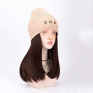 SHYPT Extensions de Cheveux Chapeau Perruque Casquette pour l'automne Hiver Chapeau tissé Chapeau Chaud avec de Fausses Fi...