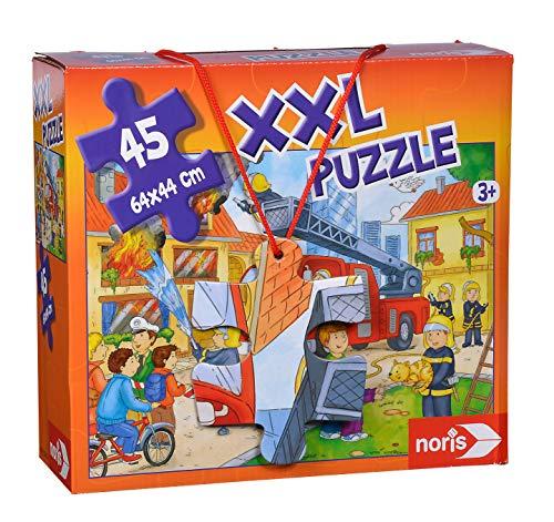 Noris 606038000 XXL Riesenpuzzle Feuerwehr im Einsatz mit 45 Teilen (Gesamtgröße: 64 x 44 cm) - für Kinder ab 3 Jahren