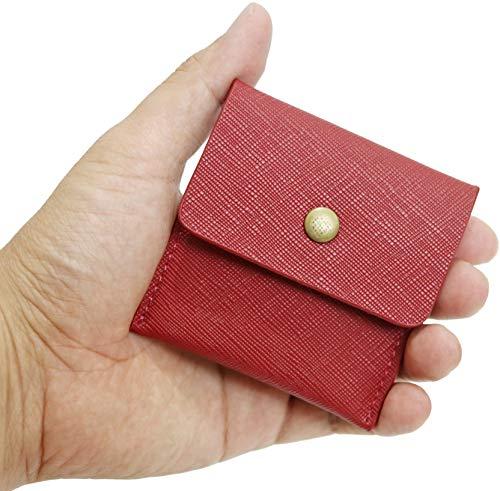 携帯灰皿 吸い殻入れ Ash Tray ソフトレザー PU 革 レザー ポケット 手のひらサイズ コンパクト ポータブル エチケット アッシュトレイ (RED)