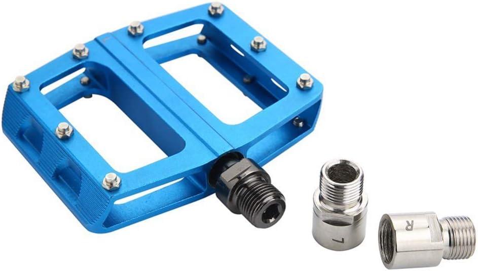 Shentesel 1 Pair Durable Steel//Titanium MTB Road Bike Bicycle Pedal Extenders Spacers
