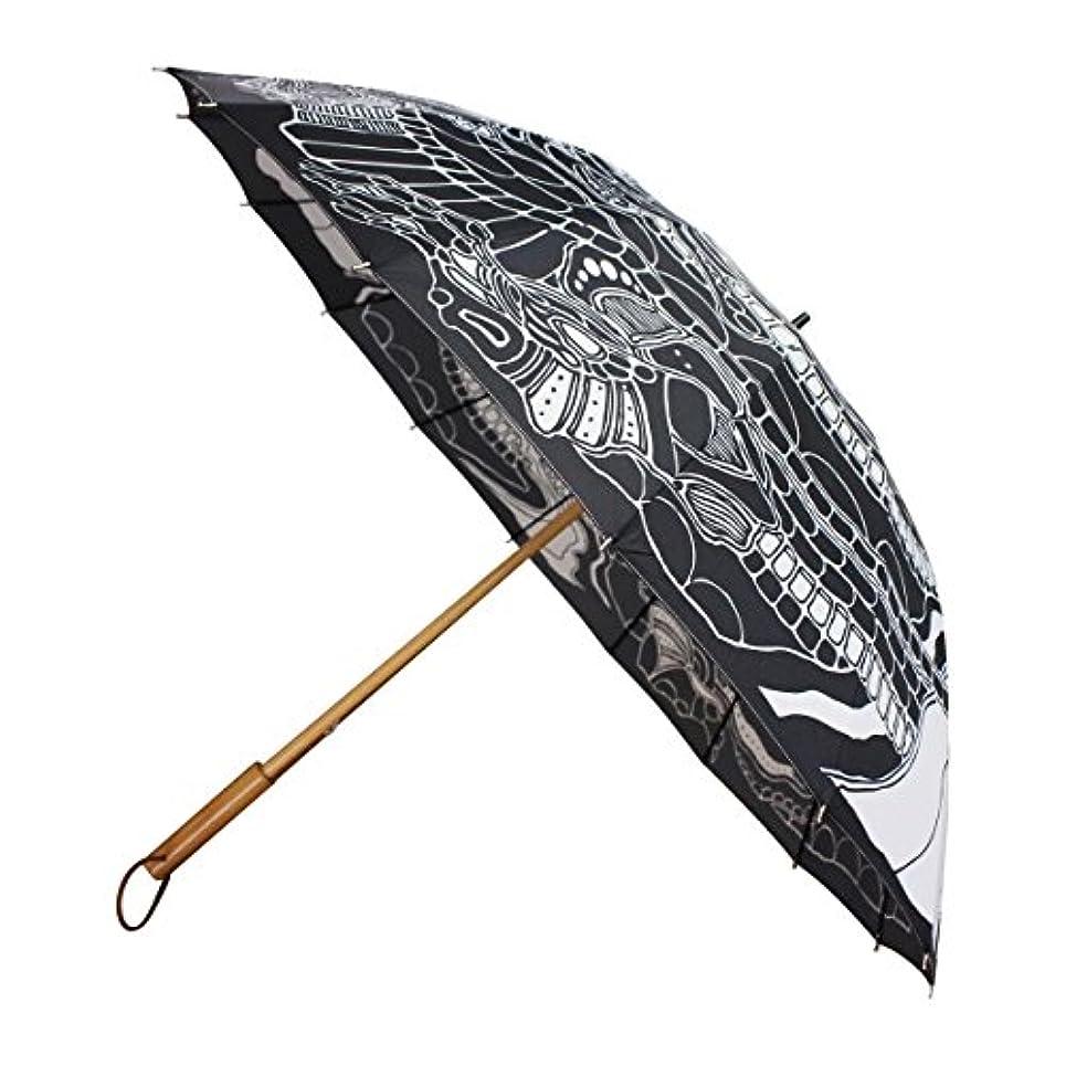 ステープル気候の山ドライ和柄テキスタイル16本長傘