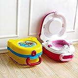 hinffinity Reise-Töpfchen für Kleinkinder, tragbares Kinder-Urinal, Reisetöpfchen, Trainings-Toilettensitz für Jungen und Mädchen, Camping, Auto, Urlaub