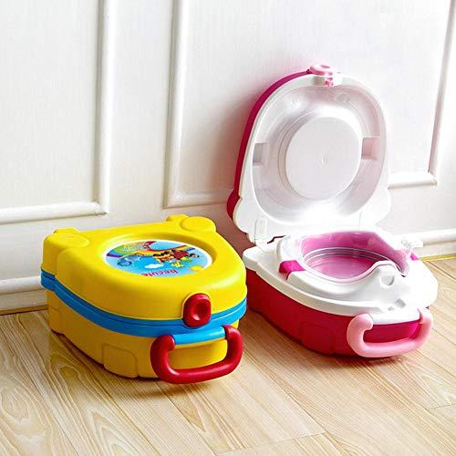 hinffinity Reise-Töpfchen für Kleinkinder, tragbar, für Reisen, Töpfchen für Jungen und Mädchen, Camping, Auto, Urlaub gelb
