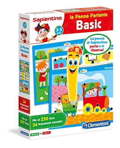 Clementoni - 13218 - Sapientino - La Penna Basic - gioco quiz con penna interattiva, gioco educativo 3 anni, elettronico parlante - Made in Italy, batterie incluse