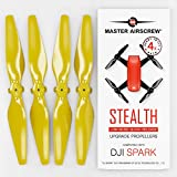 Master Airscrew Hélices modernisées MAS pour Drone DJI Spark, Un kit de 4 pièces (Jaune)