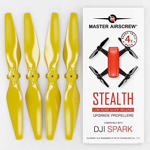 MAS Upgrade Propellers for DJI SPARK in Yellow - x4 in Set