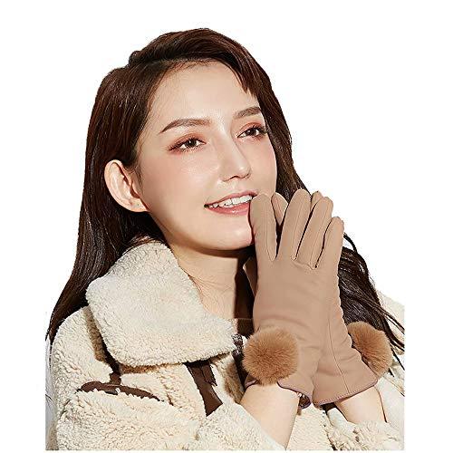 ZN-Home-Gloves Gants d'hiver Ultra-Doux pour Les Femmes Écran Tactile Chaud Doublure en Peluche Apparence Parfaite Coupe-Vent Gants Conduite en Peluche Écran Tactile SMS