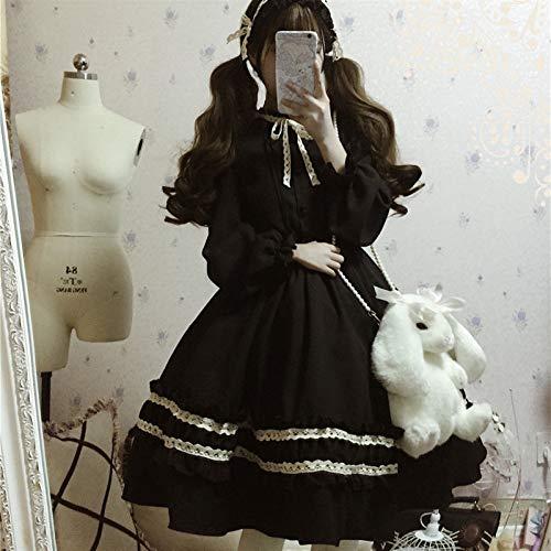 Mcttui Vestiti di Vestiti Lolita Victorian Medieval Gothic Lolita Dress Lolita Dress Streetwear Camicia Donne Vintage Manica Lunga Retro Temperament Teater Party Sweet Lolita Dress