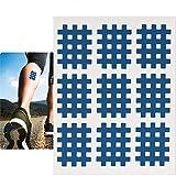 Cinta terapéutica resistente al agua fuerte, 20pcs/set Cinta muscular Pegatinas de kinesiología Papeles deportivos para el dolor y la recuperación [Rosa](Azul)