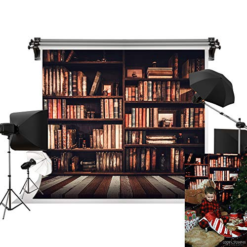Kate 10x6.5ft/3m(W) x2m(H) Back to School Backdrop Homecoming Day Backgrounds Bookshelf Books Backdrop Happy School Year Photography Backgrounds