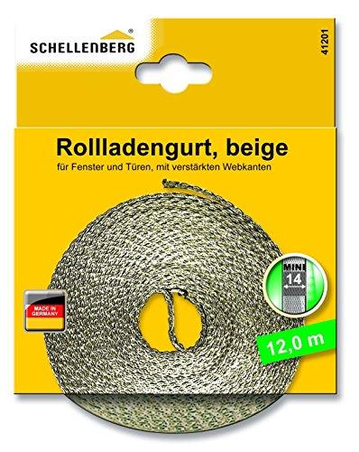 Schellenberg 41201 Sangle de volet roulant Beige 14 mm 12,0 m