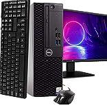 Dell Optiplex 3050 SFF Desktop PC, Intel i3-6100 3.7GHz, 16GB DDR4, 512GB SSD, New 23.6' FHD LED Monitor WiFi, Win 10 Pro, Wireless Keyboard & Mouse(Renewed)