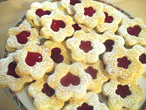 1kg Handgemachtes Selbstgebackene Gebäck Plätzchen mit Marmelade Kekse