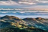 Poster 91 x 61 cm: Schwarzwald Alpen Panorama von Andreas