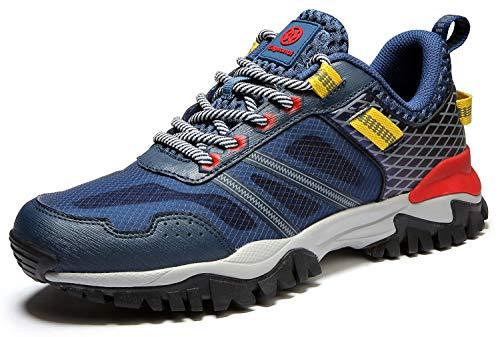 Eagsouni Damen Herren Laufschuhe Sportschuhe Turnschuhe Traillaufschuhe Straßenlaufschuhe Sneaker Joggingschuhe Walkingschuhe Traillauf Fitness Schuhe, Tiefes Blau B, 45 EU