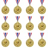 Abaokai 12 Pieces Gold Award Medals-Winner Medals Gold Prizes for Sports, Competitions, Party, Spelling Bees, Olympic Style, 2 Inches