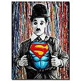 Leinwand Banksy Graffiti Malerei Moderne Bunte Charlie