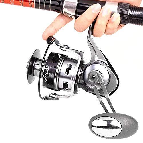 HXF- Pesca Pesca Línea Voyager Rueda Full Metal Spinning Pesca Pistola Rueda Negro Rock Road Rueda Pesca Mar Rod Rueda Precisión (Size : 5000)