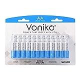 VONIKO - Premium Grade AA Batteries - (36 Pack) - Alkaline Double A Battery - Ultra Long-Lasting, Leakproof 1.5v Batteries - 10-Year Shelf Life