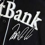 ソフトバンク ホークス 刺繍ワッペン バレンティン サイン 黒布 刺繍