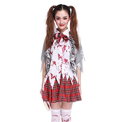shoperama–Disfraz de Mujer Sexy Zombie Colegiala