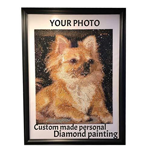 Kit de pintura de diamante 5D personalizado para cuadro de diamantes de pintura de diamantes para bordado en lienzo para pared con pintura de diamantes por Numbers Kits para adultos