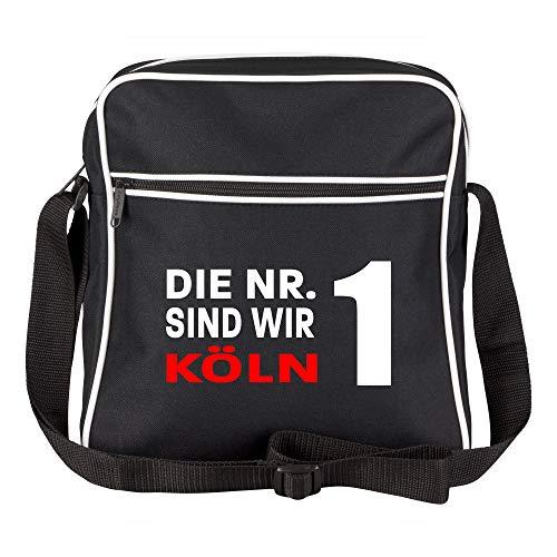 Schultertasche Die Nr. 1 sind wir Köln schwarz - Köln Kölner Fußball Tasche Fanartikel