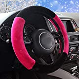 Mayco Bell Inverno Peluche Pelliccia Auto Volante Copertura Carino Per 95% Car Styling 38 cm Rosa