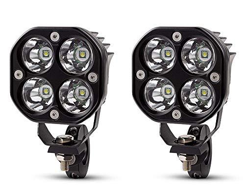 Moto Foco Luz Antiniebla LED Kit 40W Lámparas + Cableado Interruptor Pinzas