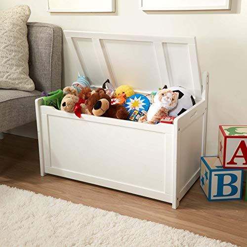 Melissa & Doug Wooden Toy Chest - White
