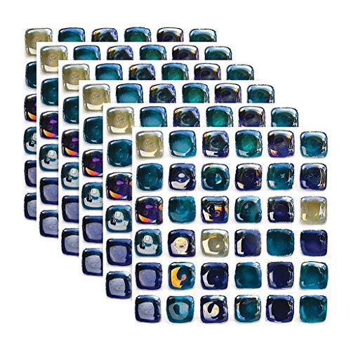 Etiqueta engomada de azulejos de mosaico autoadhesivo 3D, copas de baño de cocina con plataforma de baldosas de pared Decoración de la decoración a prueba de agua Peel & Stick Azulejos de PVC Ladrillo
