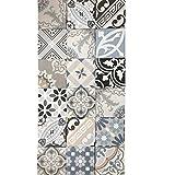 Mediterrane Keramikfliesen Patchwork 20 x 20 cm glasiertes Fein- & Steinzeug in Zementoptik
