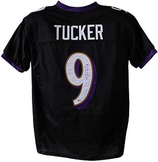 Signed Justin Tucker Jersey - Black XL BAS 24123 - Beckett Authentication - Autographed NFL Jerseys