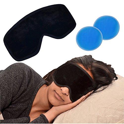 Medipaq Deluxe Magnetische Gel-Augenmaske – Reduziert Schwellungen - Dunkle Augenringe Entfernen - Falten, Migräne oder müde Geschwollene Augen – Schlafmaske Frauen