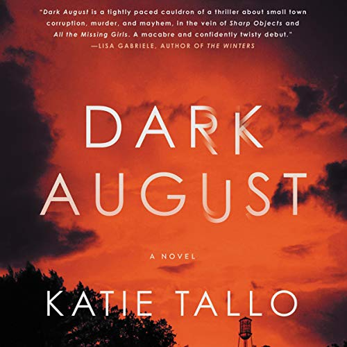 Dark August audiobook cover art