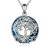 ONEFINITY Tree of Life Necklace for Mother's Day Gifts 925 Sterling Silver Crystal Tree of Life Pendant Necklace Tree of Life Jewelry for Mother and Women Gifts