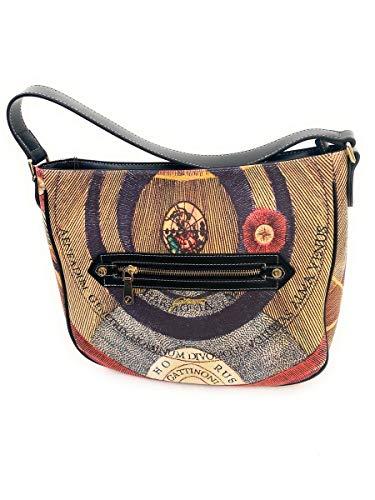 Gattinoni borsa a spalla linea Planetario,tasca con chiusura zip esterna,chiusura borsa con zip 29x8.5x32