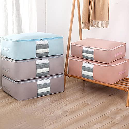 Hopfällbara förvaringsväskor Klädorganisator Hem Dammtäta väskor Garderob Arrangör Täckeförvaringsväskor Under säng Förvaring Sorteringsväskor