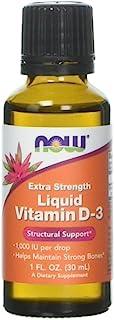 Líquido Vitamina D-3. la fuerza adicional. 1.000 UI. 1 oz fl (30 ml) - Now Foods