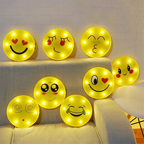 MTX Ltd Veilleuse Qq Expression Series Modeling Lights Jolie Petite Veilleuse Drôle Smiley Expression Paquet à Envoyer Un Cadeau d'anniversaire à Son Petit Ami