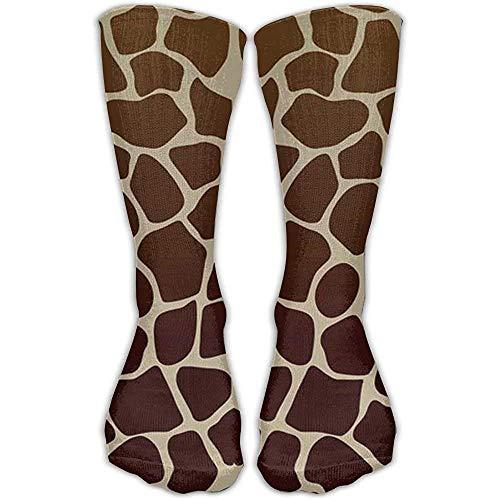 Calcetines deportivos de algodón con estampado de jirafa oscura