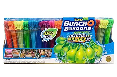 ZURU Bunch O Balloons, 420 Water Balloons, Fill & Tie 100 in 60 Seconds,