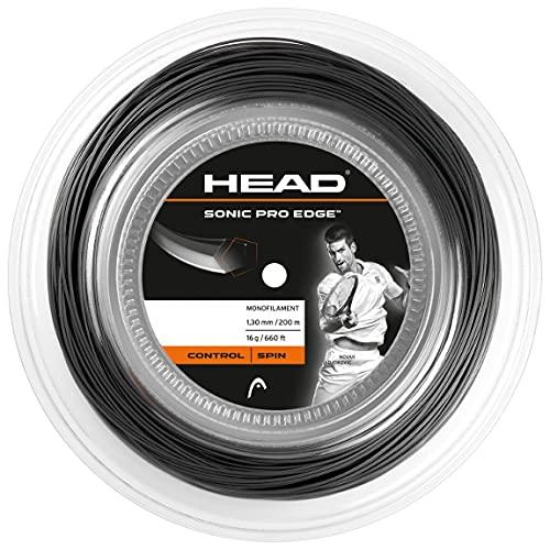 Head Sonic Pro Edge Rollo Cordajes de Raquetas de Tenis, Adultos Unisex, Antracite, 16