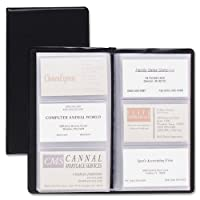 (Each) - TOPS Cardinal Sealed Vinyl 72 Card File, Black, (751 610)