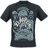 Led Zeppelin Electric Magic Hombre Camiseta Negro M, 100% algodón, Regular