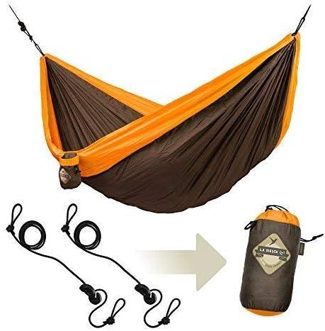 LA SIESTA Colibri Orange Hamaca de viaje individual con sujeci/ón