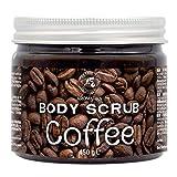 Exfoliante de Café 450g - Anticelulítico & Humectante Exfoliante - Limpia & Hidrata la Piel - Cuidado del Cuerpo - Rico en Minerales de Sal Marina & Café Arábica - Coffee Body Scrub